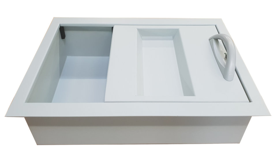 pass through drawer